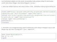 Kode Program dengan PrettyPrint