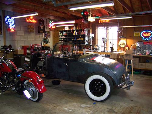 vintage spirit ambiance garage. Black Bedroom Furniture Sets. Home Design Ideas