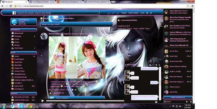 Facebook theme sample 02