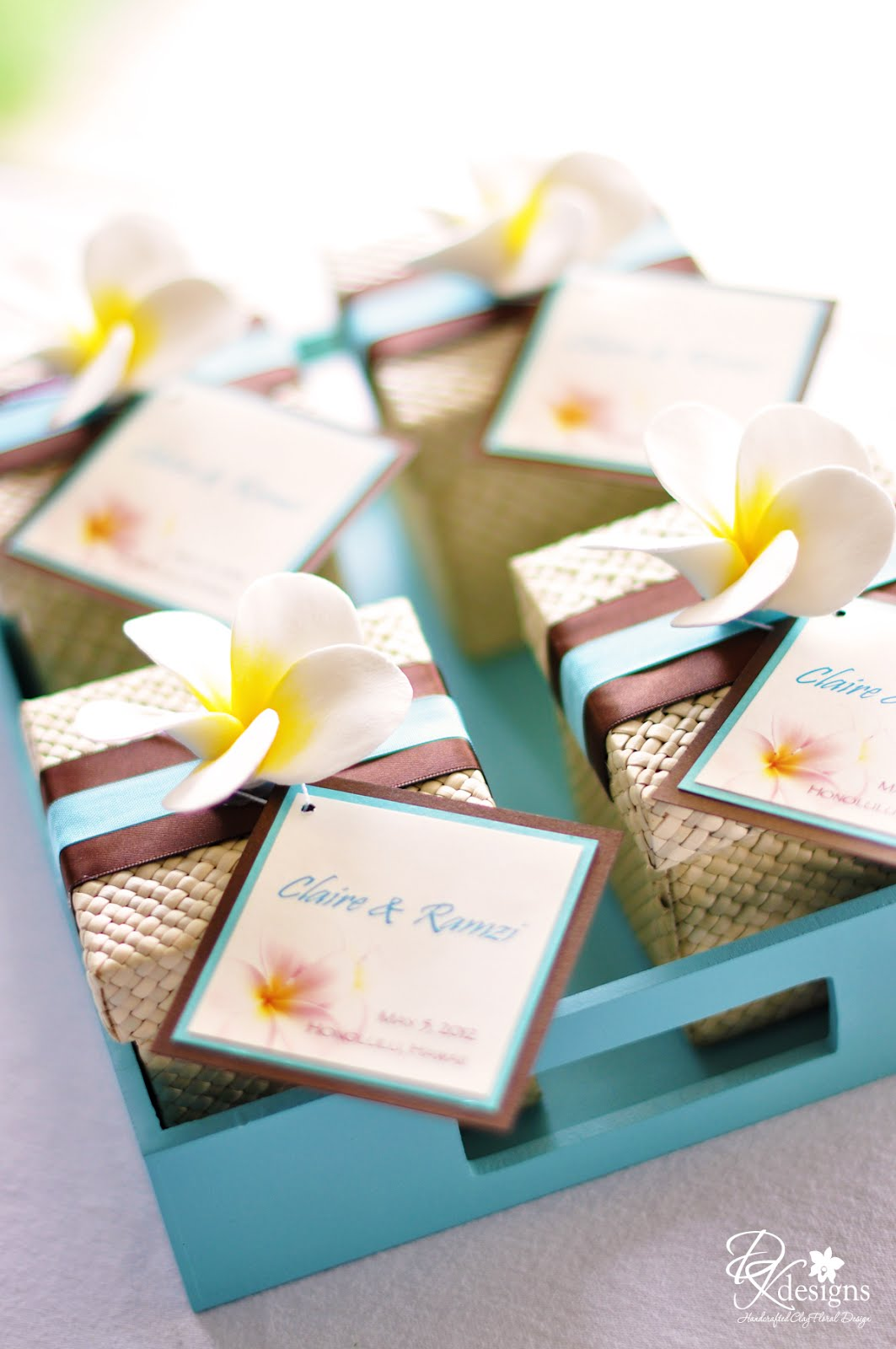 Hawaiian Wedding Favor Boxes : DK Designs: Destination Hawaii Wedding Favors