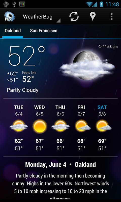 افضل 5 تطبيقات ايفون لمعرفة حالة الطقس