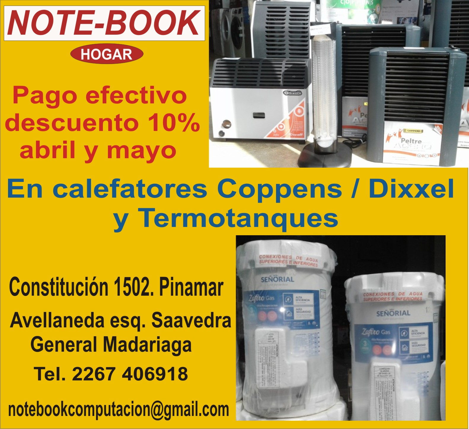 NOTE-BOOK. Calefactores y termotanques