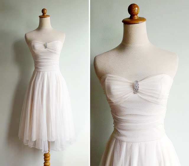 vintage white wedding dress
