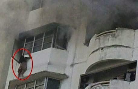 Bomba Selamatkan Awek Dari Rentung Terbakar, info, terkini, berita, kebakaran kondominium Palm Villa