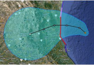 Tropischer Sturm INGRID, 2013, aktuell, Atlantische Hurrikansaison 2013, Golf von Mexiko, Ingrid, Mexiko, Satellitenbild Satellitenbilder, September, Veracruz, Vorhersage Forecast Prognose, Yucatán