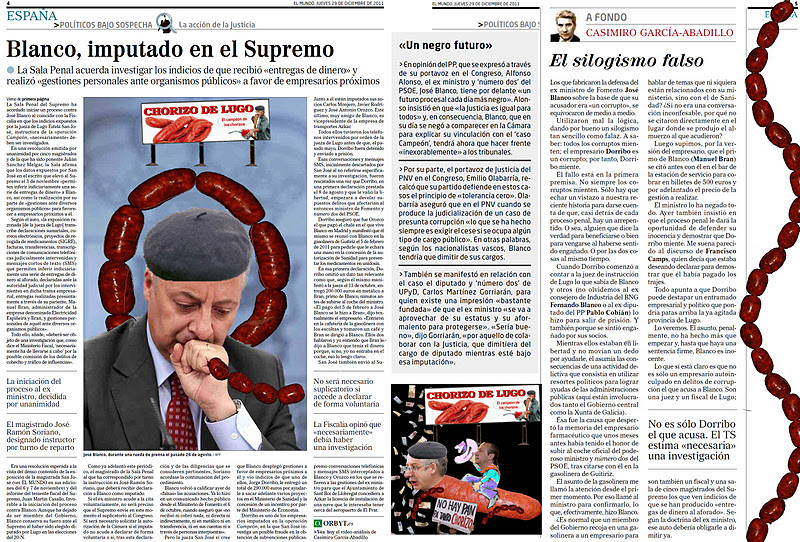 El supremos procesa por chorizo al nº 2 del PSOE, Jose Blanco, alias Pepiño Gasoliño