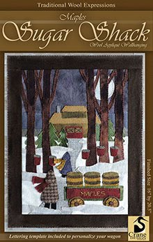 "Maples Sugar Shack Wool Applique Wallhanging  16"" x 20.5"""