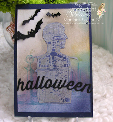 halloween steampunk men card front