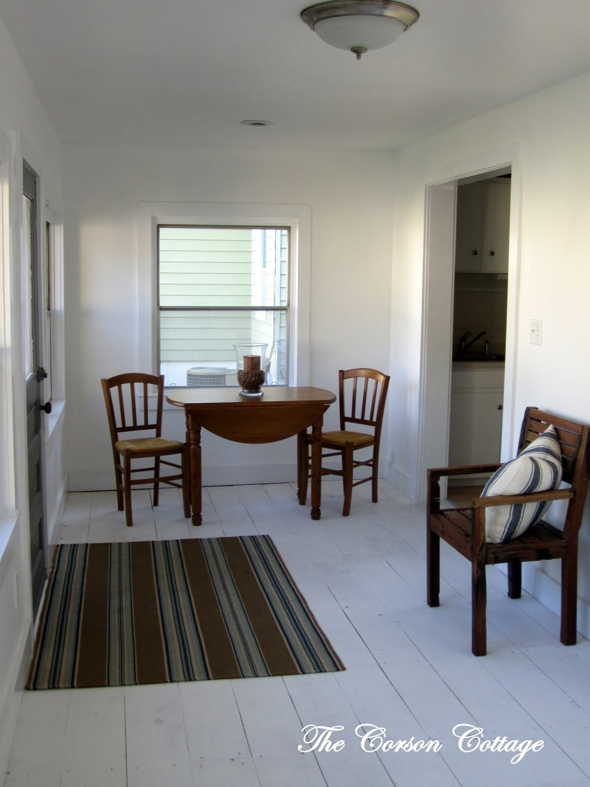the corson cottage DIY White Washed Wood Floors For Less