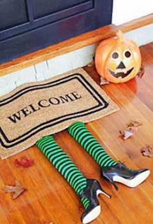 ideas para decorar una puerta la noche de halloween