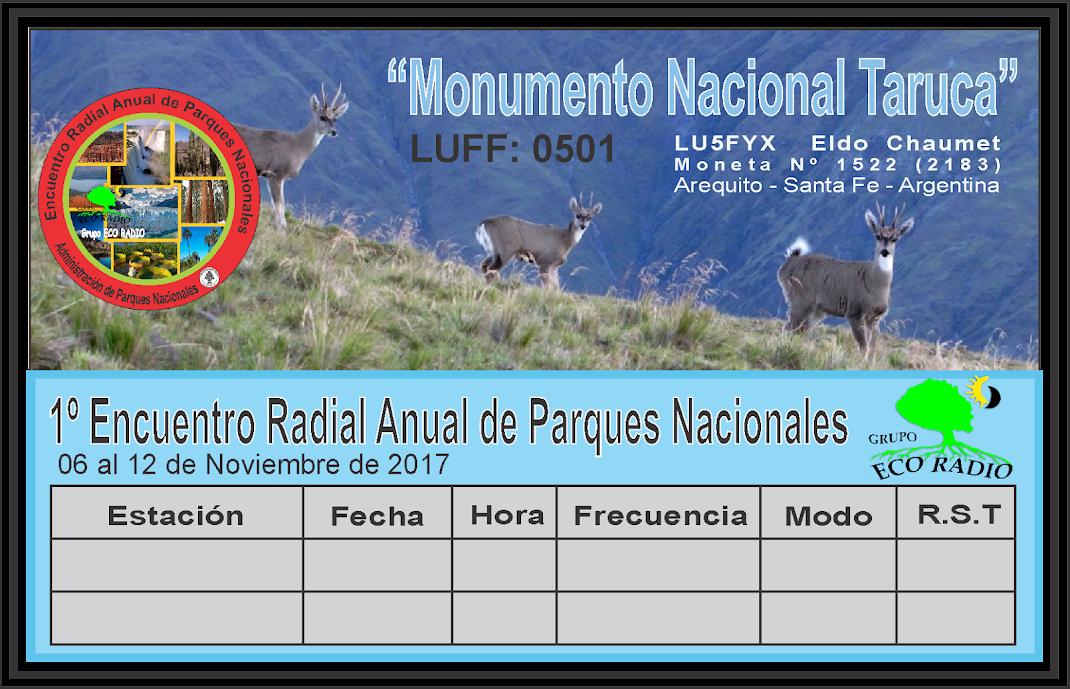 QSL Monumento Natural Taruca