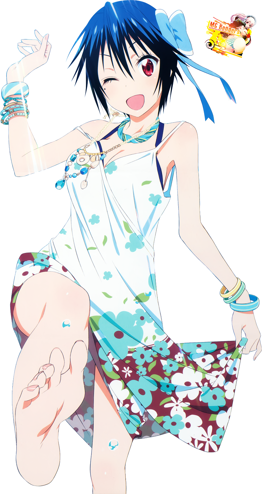 Tags: Anime, Render,  Foot fetish,  Nisekoi,  Tsugumi Seishirou, PNG, Image, Picture