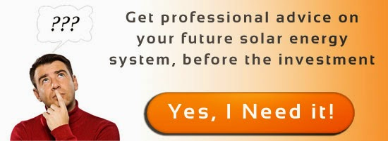 Get professional advice on your future solar energy system, before the investment