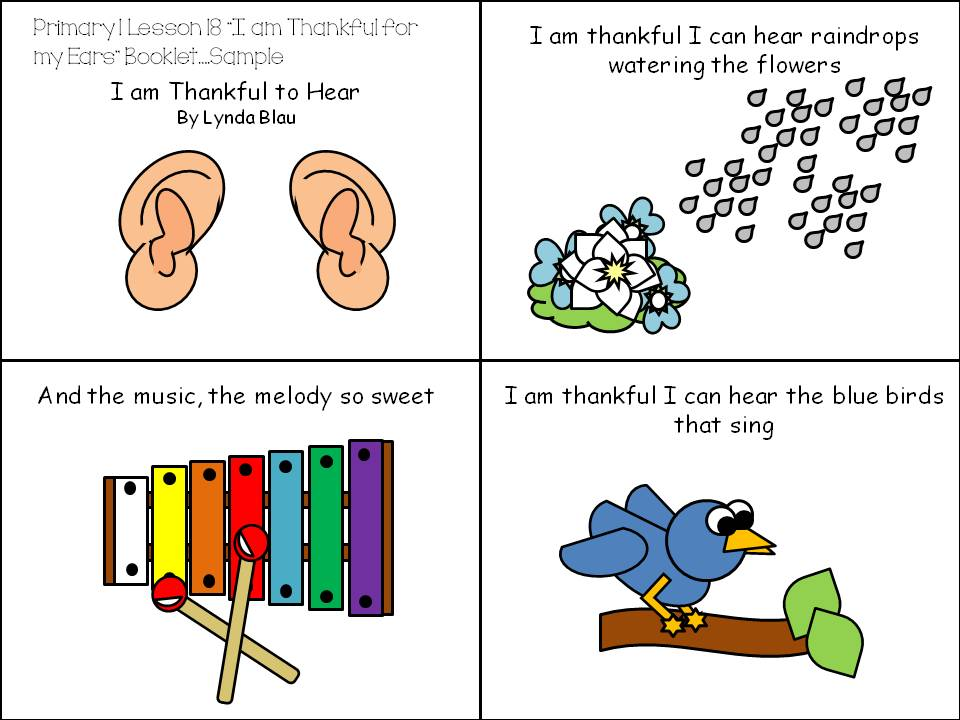 Primary 1 Lesson 18 I Am Thankful For My Ears