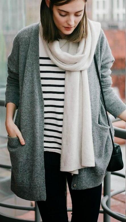 minimal-classic-striped-cardi-scarf