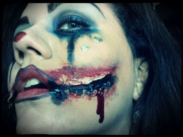 Maquiagem Halloween Evil clown, palhaço macabro