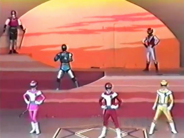 Neste show: Jiraiya, Jiban, Red Falcon (Liveman) e Turbo Ranger.