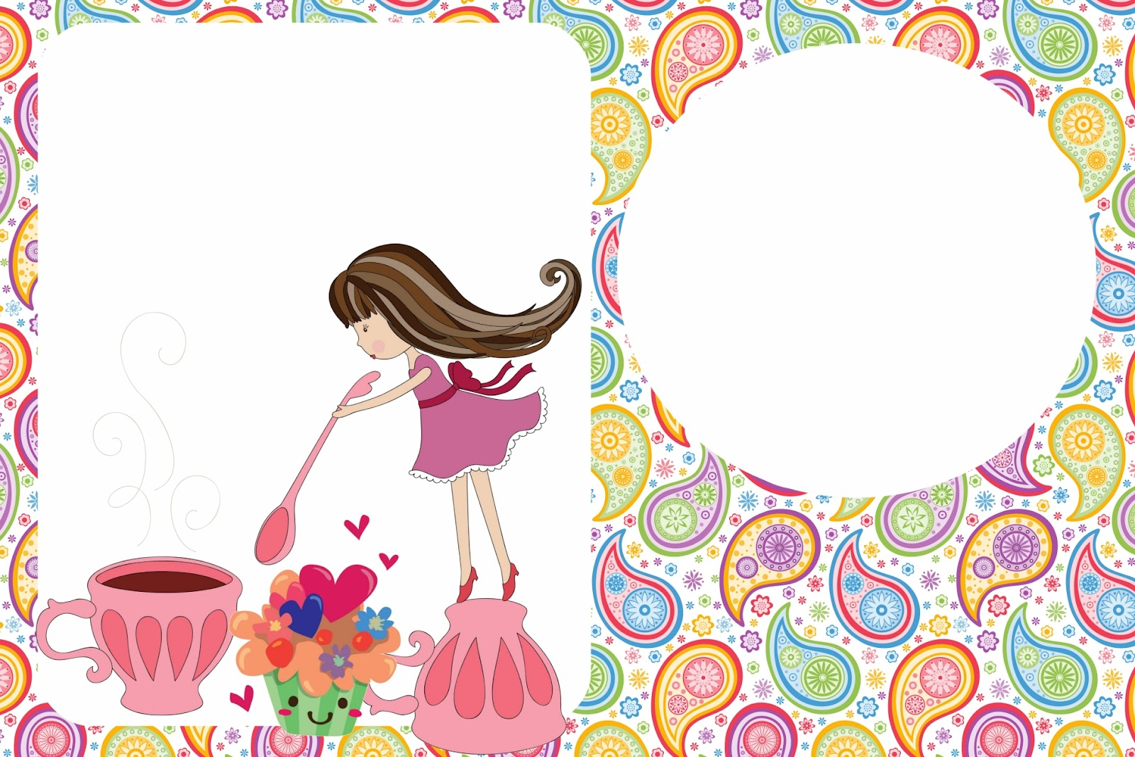 Girls Tea Party: Free Printable Invitations. | Oh My Fiesta For Ladies!