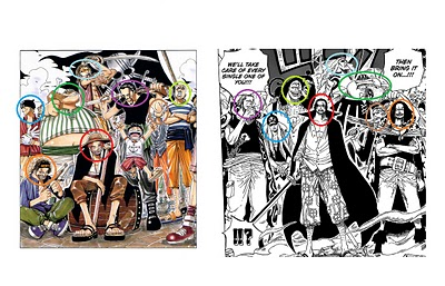 One piece lover red hair shanks crew they have funny faces in the old day now they look like a bunch of cold blooded killer publicscrutiny Image collections