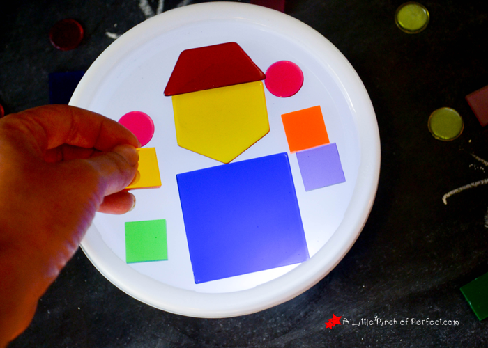 Super Easy DIY Mini Light Table For Kids