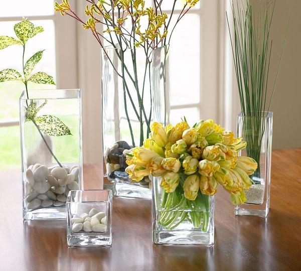 Floreros de vidrio para centros de mesa lodijoella - Mesa de centro vidrio ...
