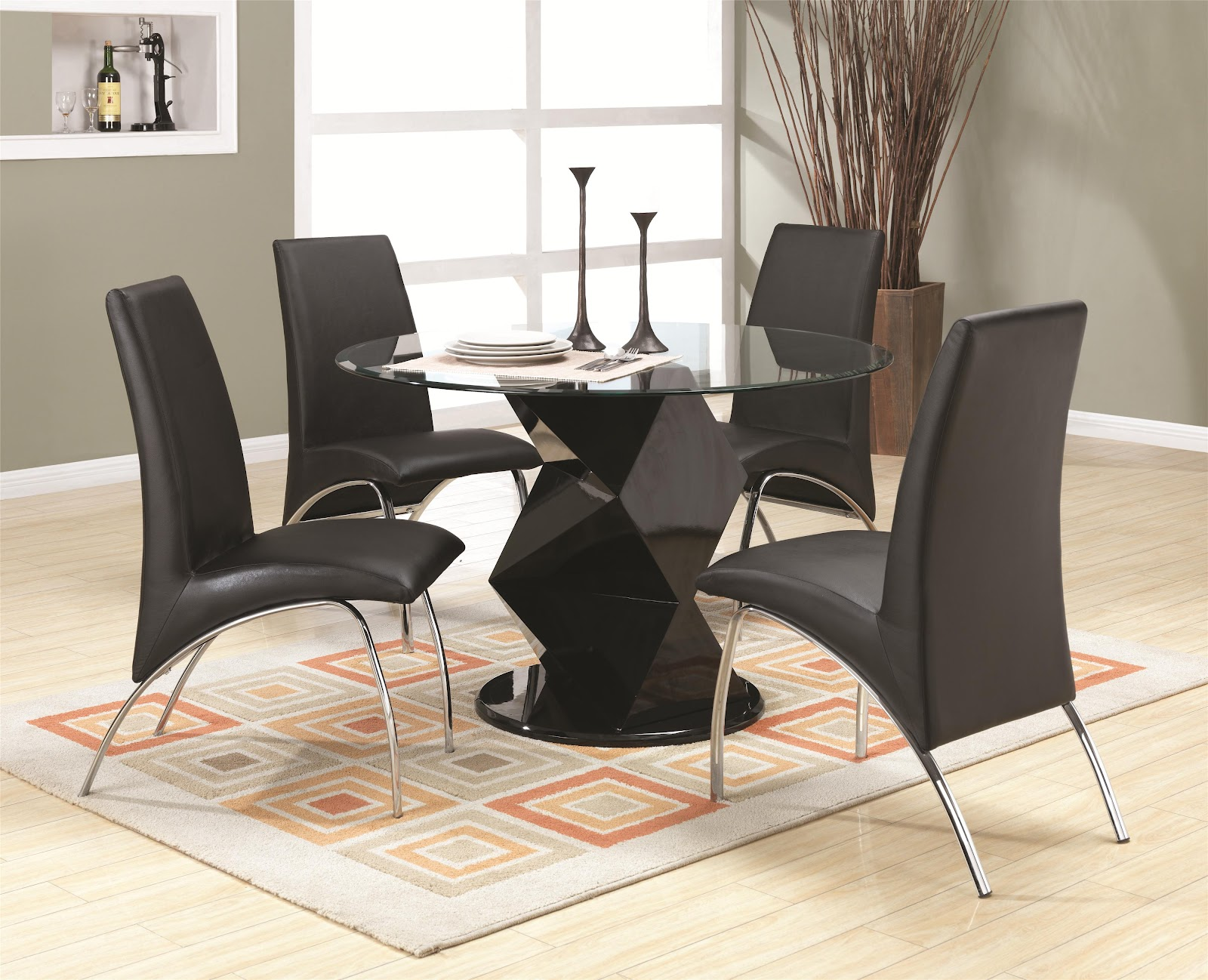 Modern dining room set dining room unique dinette for Designer dinette sets