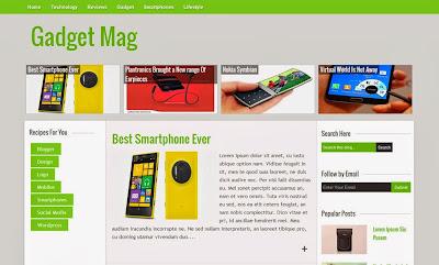 Gadget Magazine Responsive Blogger Template