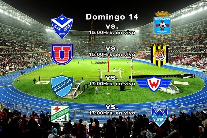 domingo 14 Liga Profesional del Fútbol Boliviano