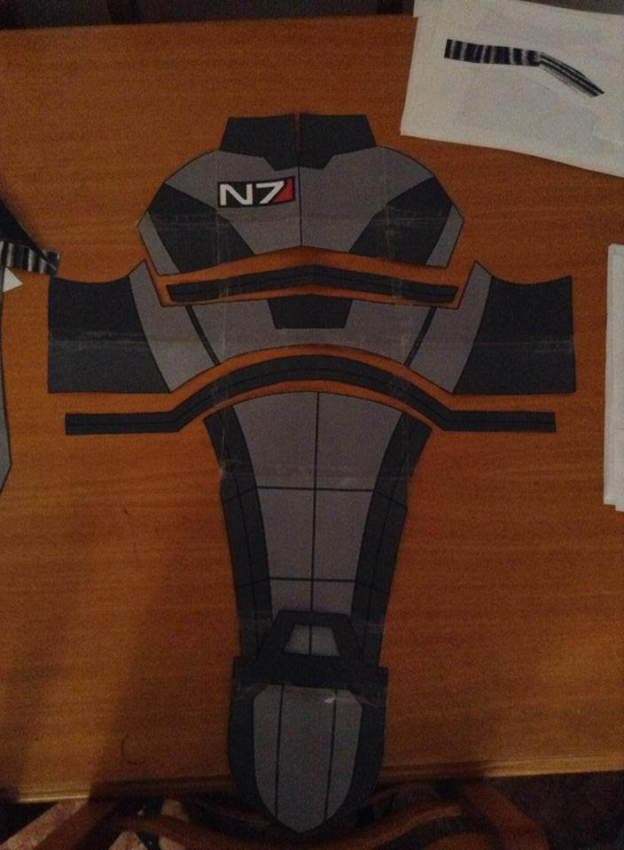 Gibcosplay mass effect n7 costume eva foam templates for Cardboard armour template
