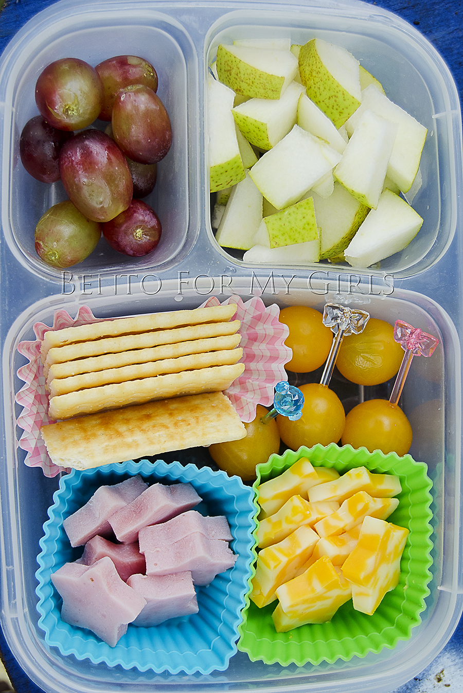 What the girls are having day 392 for Easy diy lunches