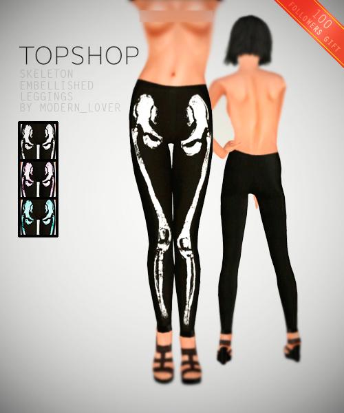 Topshop skeleton leggings