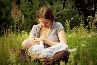 Mothers can rest and relax when breast feeding