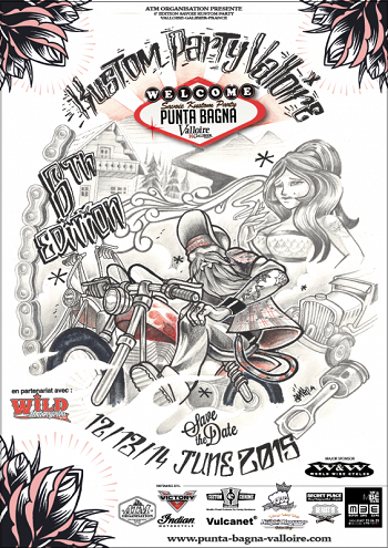 Kustom Party Valloire. Punta Bagna. France. June 12, 13 and 14th.
