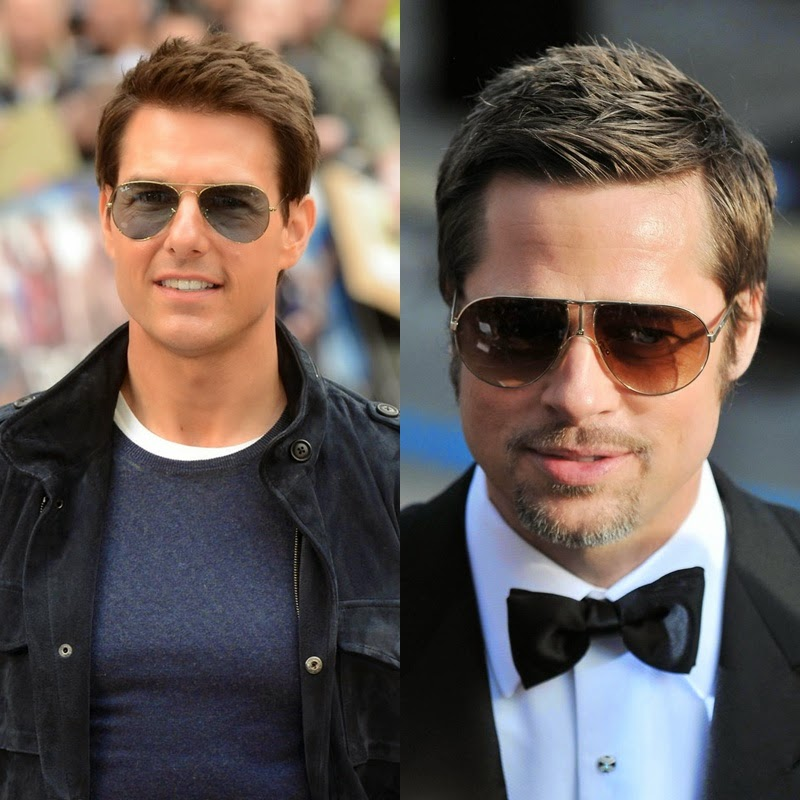 TOM CRUISE, BRAD PITT, GAFAS AVIADOR