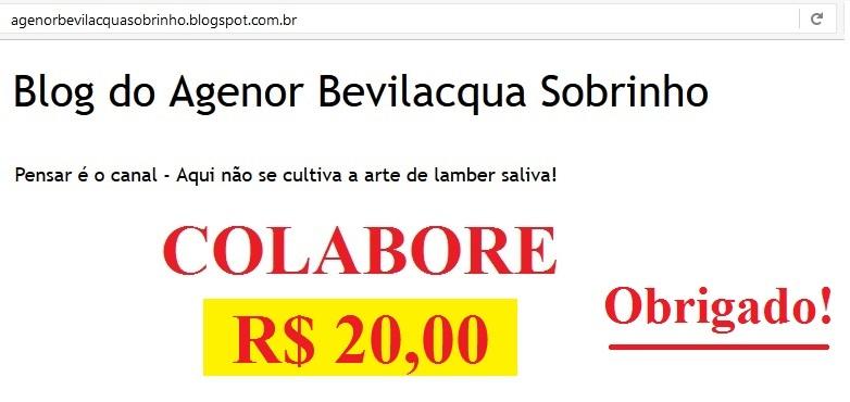 Quero colaborar com o Blog do Agenor Bevilacqua Sobrinho
