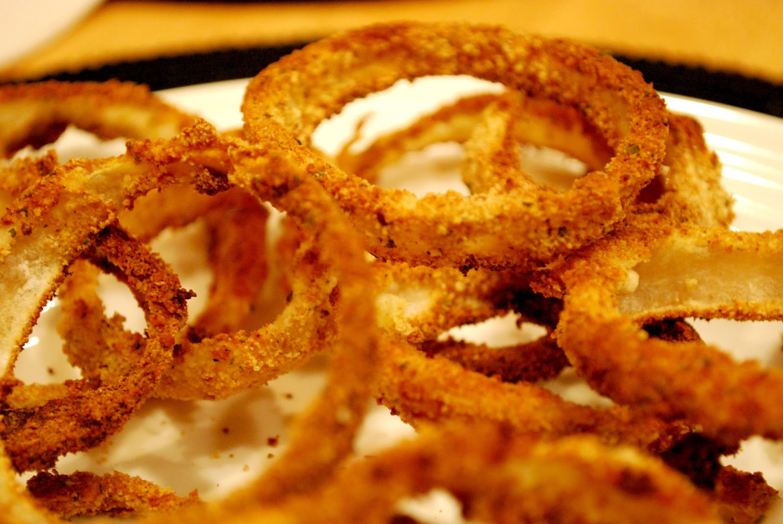 Girl's Guilty Pleasures: Crispy Oven Baked Onion Rings