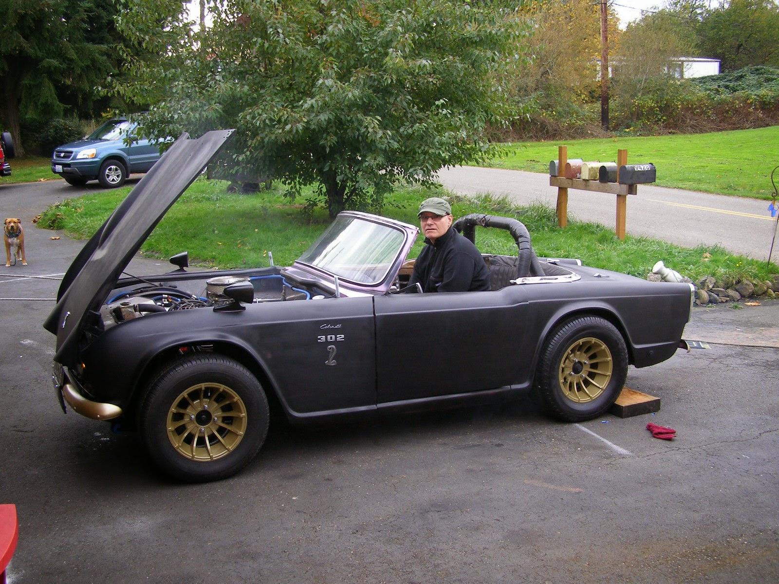 Daily Turismo: 5k: KITT Meets Cobra: 1963 Triumph TR4 V8