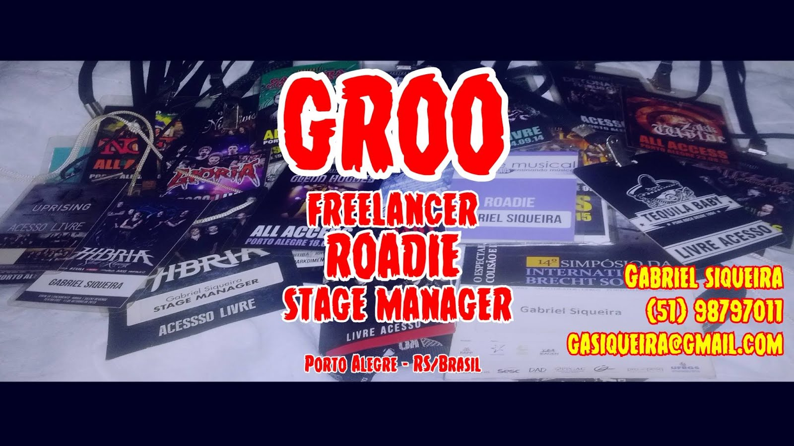 Groo: Free-lancer Musician / Roadie / Stage Manager