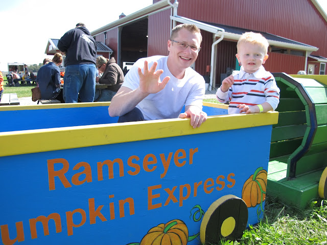 Daddy & Porter at Ramseyer Farms