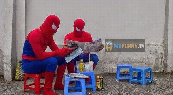 Spidermen Real Life Funny Photo
