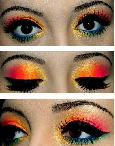 Rainbow color eye shades