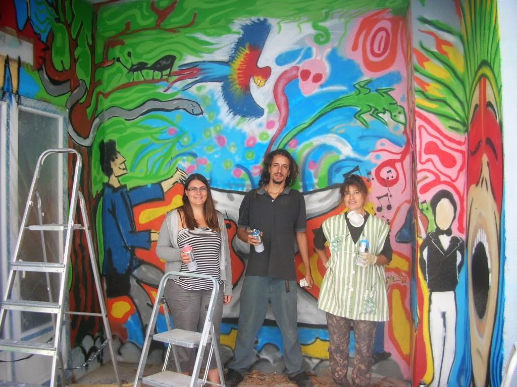 Fresque collective - Festival ESPIRITO  franco-brésilien