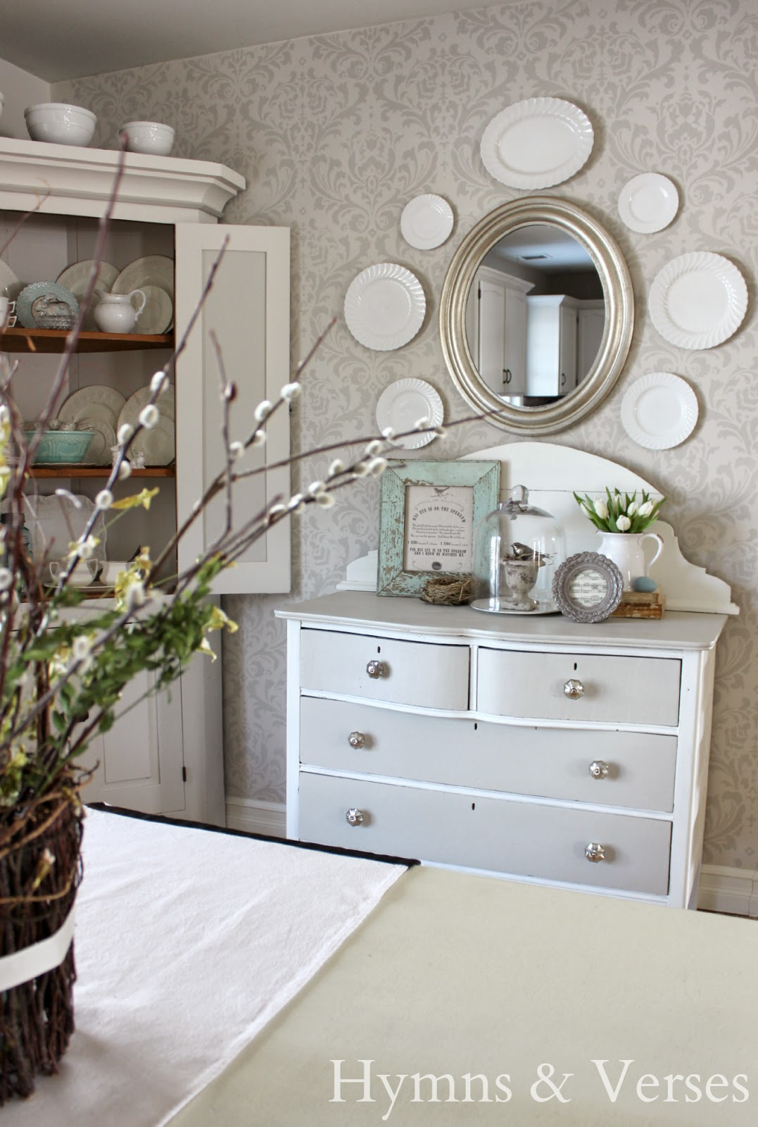 hymns and verses old dresser becomes a dining room buffet