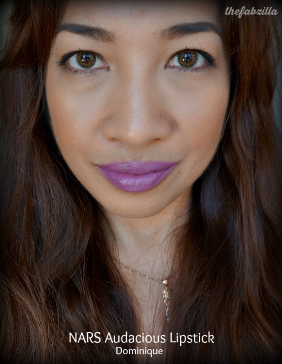 NARS Audacious Lipstick, Catherine, Dominique, Review, Swatch, FOTD