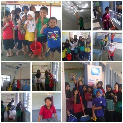 Gotong Royong Membersihkan kelas