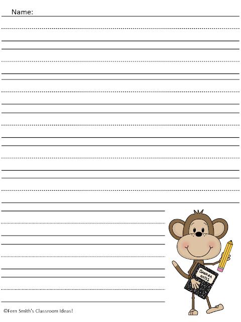 writing paper template first grade