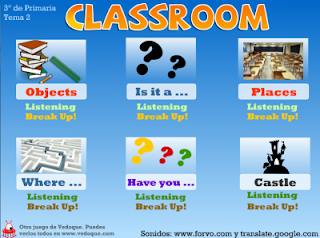 The Classroom, dictados y juegos educativos para Inglés (vedoque.com)