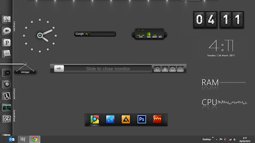 XWidget Untuk Mempercantik Windows 7 | 8