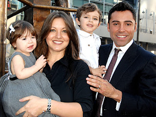 Oscar de la Hoya 5 Children Four Women