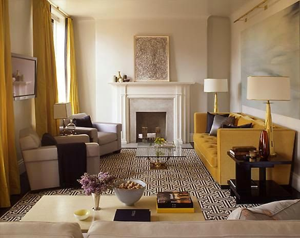 beige gray yellow living room